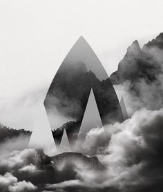 http://evilevich.tumblr.com Drop #illustration #shape #mountain #line #landscape #triangle #forest #drop #cloud #curve #aparaats