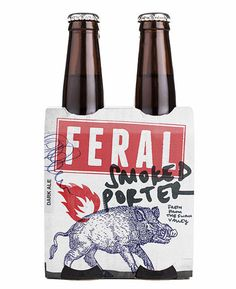 Feral Smoked Porter Packaging #campaign #beer