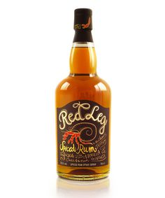 lovely package red leg rum 1 #red #bottle #packaging #leg #spiced #rum