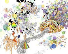 Jen Stark's Cosmic Drawings | Hi-Fructose Magazine #universe #drawings #stark #trippy #jen #neon
