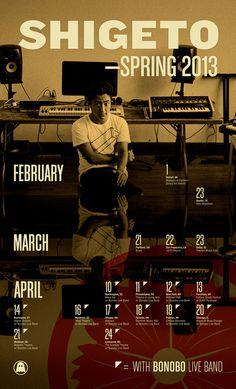 shigeto spring13 final #gigs #calendar