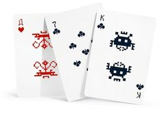 Space Invaders eight-bit playing cards #design #graphic #cards #8 bit