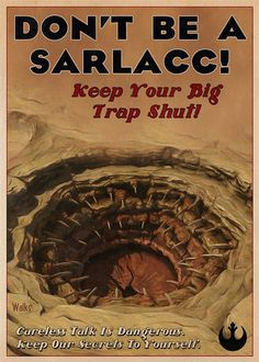 Striking Illustrated 'Star Wars' Propaganda Posters DesignTAXI.com #alien #propoganda #sarlacc #lucas #monster #fi #sci #wars #illustration #poster #film #star #worm #desert