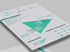 Free Stylish Resume Template with Creative Design