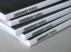 Patrick Fry / Unordinary People #print #publication #typography