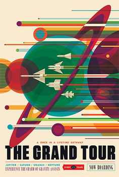 NASA Poster | Grand Tour #poster #nasa #illustration