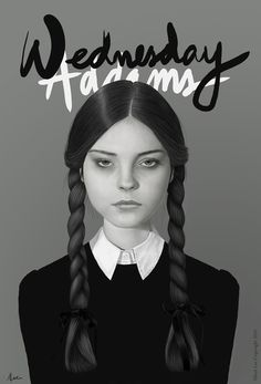 Wednesday Addams by Albert Lee #design #illustration #era #poster #art #new