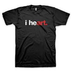 """i heart art"" T Shirt #heart #i #design #tshirt #art #tee #helvetica #typography"