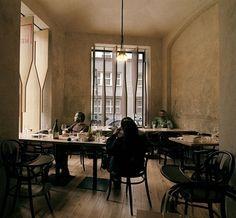 Dezeen » Blog Archive » Red Pif Restaurant and Wine Shop by Aulík Fišer Architekti