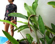 "Surf swimsuit ""Tropical Blush"" by Nastya KFKS. Limited edition #kfksstore #swimsuit #onepice #swim #surf #surfing #ocean #swimwear #kfkssurf"