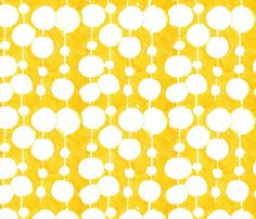 Big Fat Drops Yellow by penina, click to purchase fabric #fabric #yellow #pattern