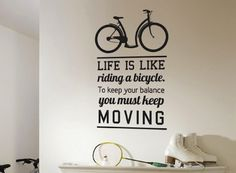 Wall Decal Quote Bicycle Ride #tech #flow #gadget #gift #ideas #cool