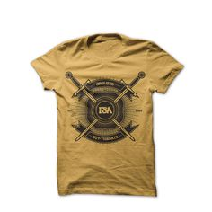 Image of Civilised Cut-throats Gold #tshirt #sword #gold #f&a