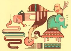 FFFFOUND! | supersonic electronic / art - Harry Diaz. #print #screen #animals #mixed #media