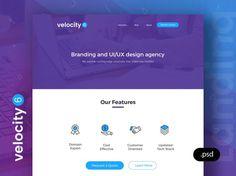 Velocity 6 - Free Landing Page PSD template