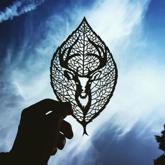 Gorgeous Paper Cut-Outs And Contrasts Them With The Sky Background #paperart #paperCut #art #design