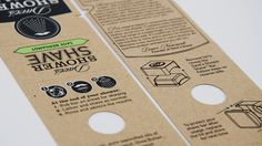 Dave's Shower Shave — The Dieline #packaging #print #instructions