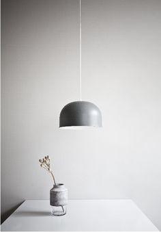Hanne Willmann | Vase #hanne #vase #concrete #glass #willmann