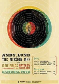 Andy-Poster-Tour-Poster1 | Flickr - Photo Sharing! #andy #lund #gig #poster #type