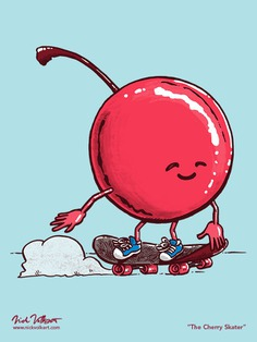 If you see a red blur on a skateboard, it's probably the cherry skater!