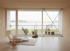 House in Amsterdam completely constructed with massive wooden panels