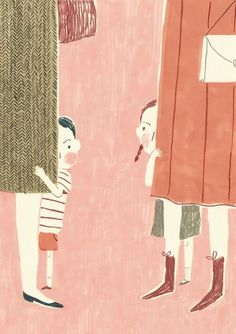 Simona Ciraolo #hiding #kids #children #adults #illustration