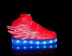 light up shoes led shoes Super-Pegasus-Red