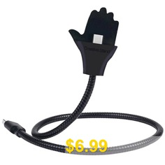 Palm #Bendable #Metal #Hose #Multifunctional #Charging #Cable #Holder #- #BLACK