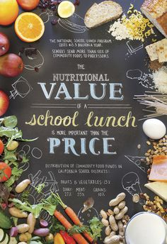 Healthy School Lunches Poster on Behance #food #photography #poster #typography