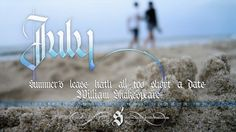 All sizes | July 2012 Calendar | Flickr - Photo Sharing! #2012 #calendar #gothic #july #sand #type #beach #textura #typography