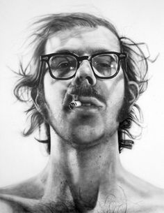 Swiss Cheese and Bullets — Big Self-Portrait by Chuck Close. 1967–68.