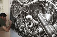 Incredible Surreal Mural Drawings