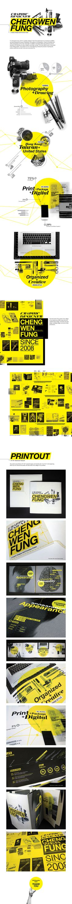 Self-Promotion poster on Behance #press kit