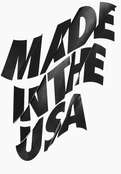 Made In The USA by Moustafa Hassan #handcrafted #design #graphic #type #typography