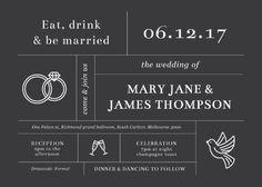 Type On Line - Wedding Invitations #paperlust #weddinginvitation #weddinginspiration #weddingstationery #cards #invitations #paper #design