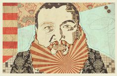 """Bam Bam Bronson"" www.KyleMosher.com #kylemosher #newspaper #hiphop #illustration #portrait #vintage #art #rap"