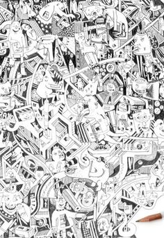 To The End Art Print by Guillaume Cornet Easyart.com #doodle #illustration #pencil #print #art #design