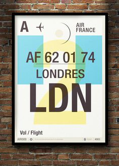 Image of Flight Tag Prints Londres #wishlist #stevens #neil #illustration #poster #typography