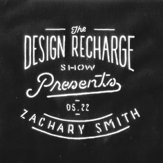 Tomorrow, at 2:30pm ET I will be doing a live interview with The Design Recharge Show. I know many of you have questions for me and tomorro #lettering #zacharysmith