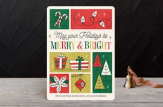 #holiday #card #retro #typography