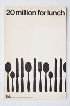 FFFFOUND! | 20 Million For Lunch | AisleOne #lunch #design