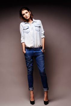 Marcin Kempski for Glamour Poland #chemise #shirt #photography #fashion #jeans
