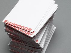 ESP_cards2.jpg 550×413 pixels #branding #business #print #design #identity #typeface #cards #typography