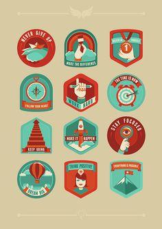 Tumblr #badges #illustration #retro