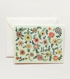 Rifle Paper Co. - Ella Thank You Card #lettering #illustration #cute #flowers #typography