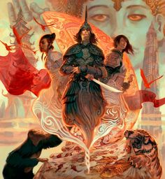 Fantasy on the Behance Network #fantasy #asia #illustration #china #magic #samurai #tiger