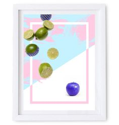 Abstract Fruit Art Poster. Available as a high resolution print quality digital download.