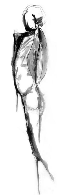 Art Print #white #black #minimal #painting #and #bw