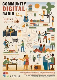 FFFFOUND! | Community Broadcasting Association of Australia. Client: CBAA | The Visual Work Of Mike Lemanski #illustration #vintage