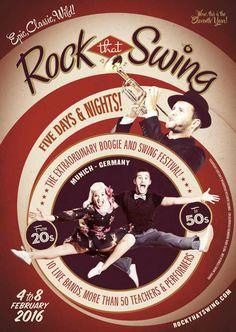 #poster #vintage #retro #lindyhop #swing #munich #micheletenaglia